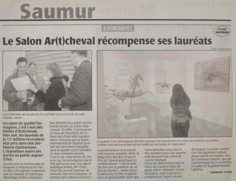 Premier de peinture au salon d'art de Saumur.