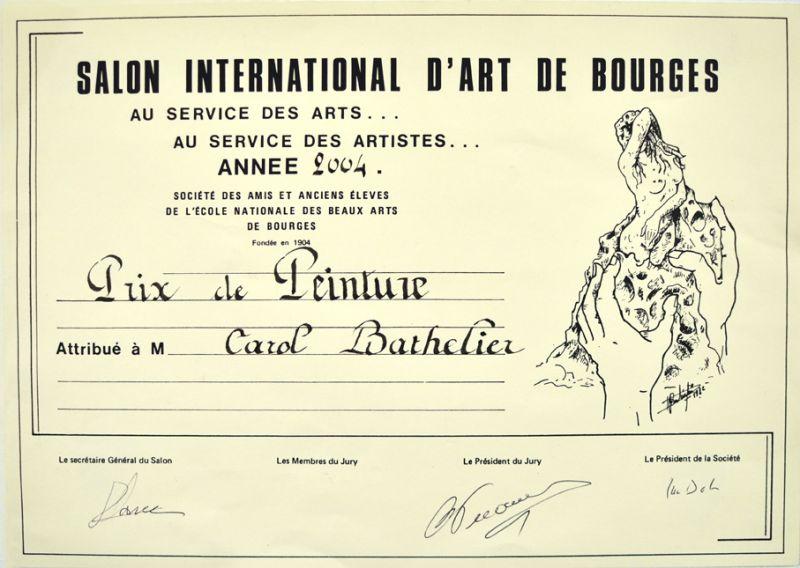 Prix de peinture au Salon d'art de Bourges