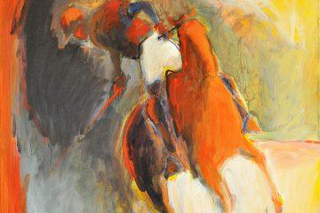 Cheval de polo. Oeuvre d'art
