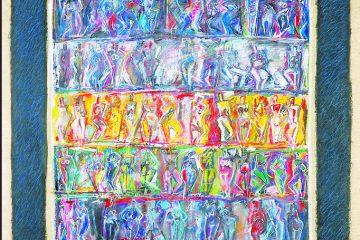 Peinture sur toile de femmes par l'artiste Carol bathellier