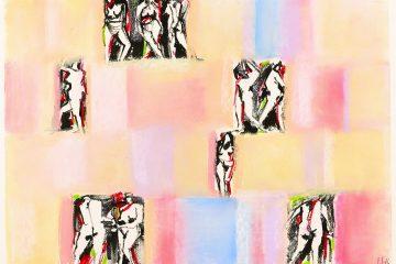 Femmes nues au pastel sec par l'artiste Carol Bathellier