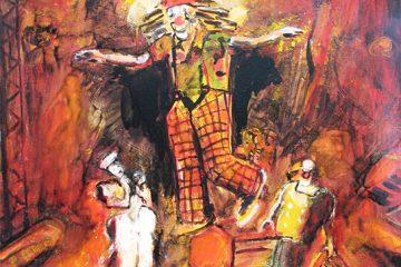 Peinture de clown par l'artiste Carol bathellier