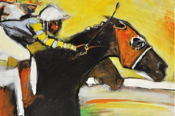 Course de chevaux Oeuvre d'art
