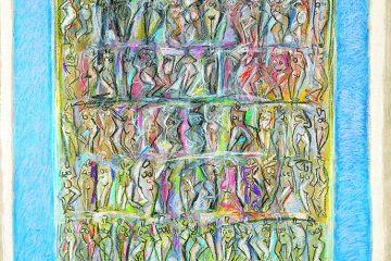 Femmes au pastel gras par l'artiste Carol Bathellier