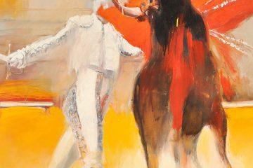 Peinture de corrida par l'artiste Carol Bathellier