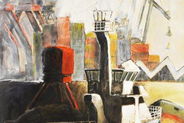 Peinture de Bateaux (Marine ) Par l'artiste Carol Bathellier