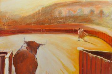 Peinture de corida par l'artiste Carol Bathellier