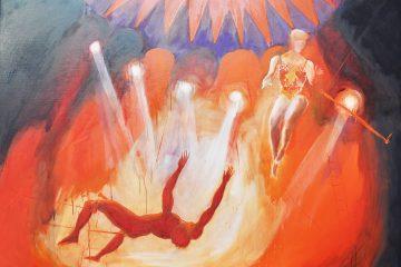 Peinture de cirque par le peintre Carol Bathellier
